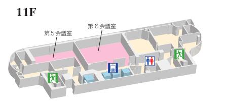 ホール11階 見取り図